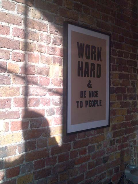 UK Work Hard Poster